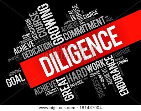 Diligence Word Cloud Collage