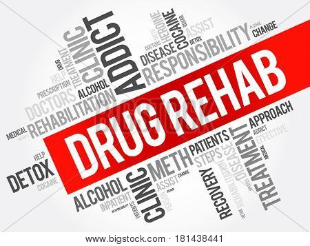 Drug Rehab Word Cloud Collage