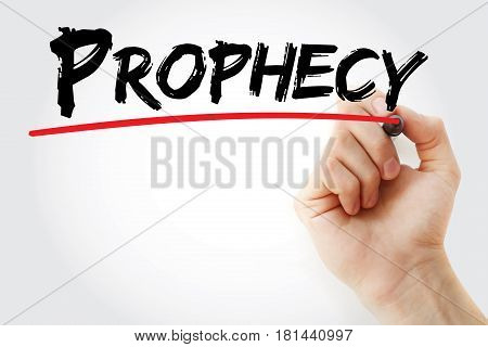Hand Writing Prophecy With Marker