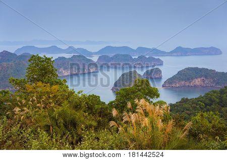 Beautiful sea landscape in Ha Long Bay, Vietnam, Southeast Asia