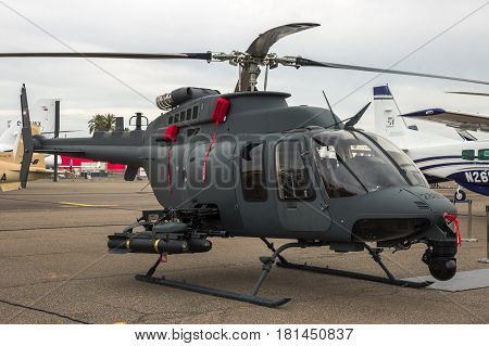 Miltiary Bell 407 Attack Helicopter