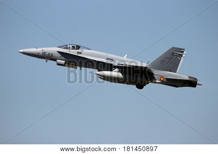 Spain Air Force F/a-18 Hornet Fighter Jet Airplane