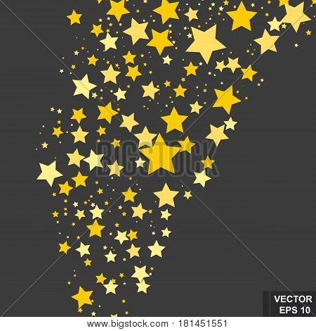 Stars. They're Flying. Abstract Background. For Your Design.