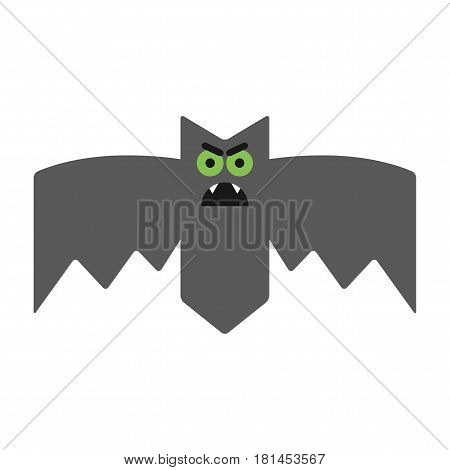 Evil, angry and sullen bat. Emotional vampire, the character for Halloween.
