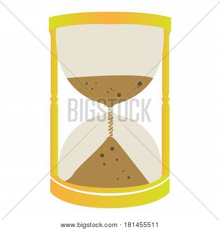 Isolated sand clock on a white background, Vector illustration