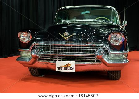 Cadillac Coupe Deville (1955) Car Displayed In Tel-aviv. Israel