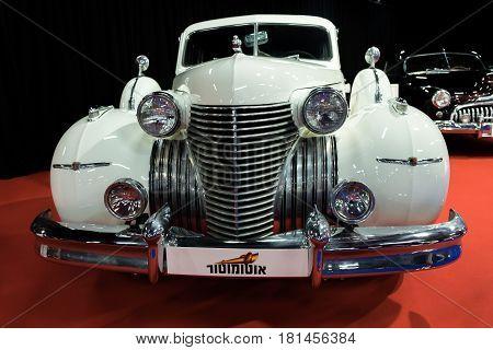 Vintage Cadillac (1940) Car Displayed In Tel-aviv. Israel