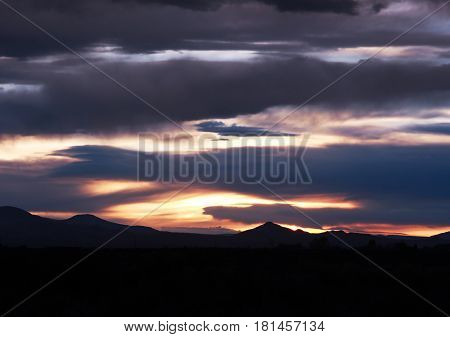 Dramatic skies over the San Luis Valley near Alamosa, Colorado