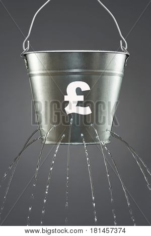 Leaky financial bucket for the British pound