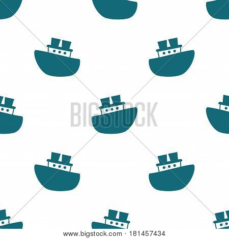 Cute seamless pattern with blue boats on the white background. Vector illustration for birthday anniversary party invitations scrapbooking prints fabric cards. Marine theme