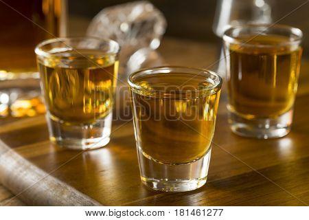 Group Of Bourbon Whiskey Shots