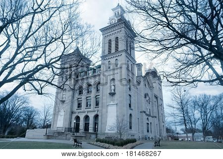 VINCENNES, Indiana - CIRCA February 02,2016 Knox county courthouse in Vincennes, Indiana