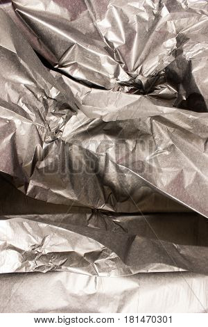 This is a closeup photograph of Black Tissue paper