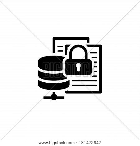 Secure File Storage Icon. Flat Design Isolated Illustration.