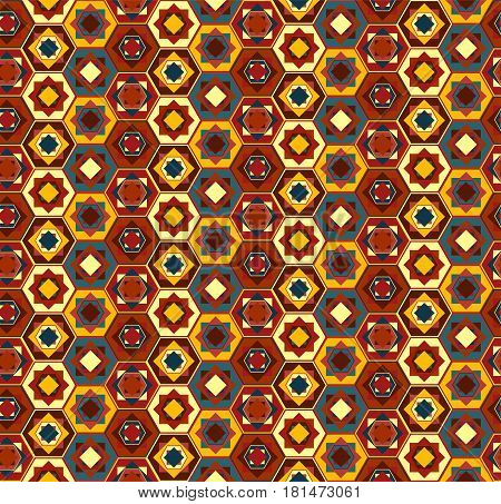 Colorful Geometrical Pattern With Hexagons