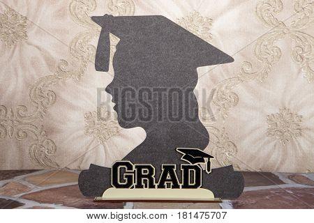 A silhouette still life for a graduation celebration