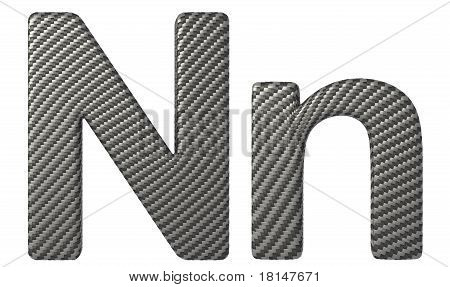 Carbon Fiber Font N Lowercase And Capital Letters