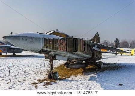 The Mikoyan-Gurevich MiG-23 (NATO reporting name: