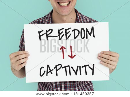 Antonyms Freedom Captivity Arrow Graphics