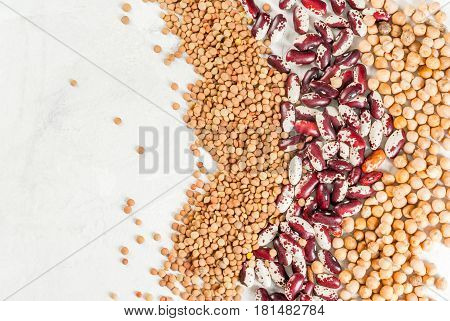 Selection Of Different Types Of Beans