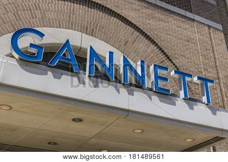 Indianapolis - Circa April 2017: Gannett Company Indy Star Headquarters. Gannett Company owns over 100 daily newspapers II