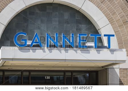 Indianapolis - Circa April 2017: Gannett Company Indy Star Headquarters. Gannett Company owns over 100 daily newspapers I