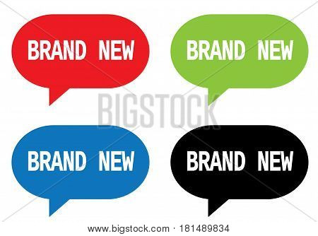 Brand New Text, On Rectangle Speech Bubble Sign.