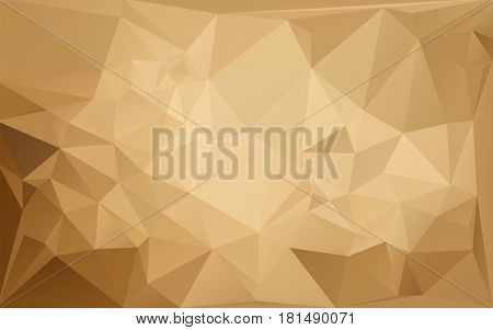 Lowpolygonal brown horizontal pattern. Vector illustration. Ambient color futuristic fantasy background.
