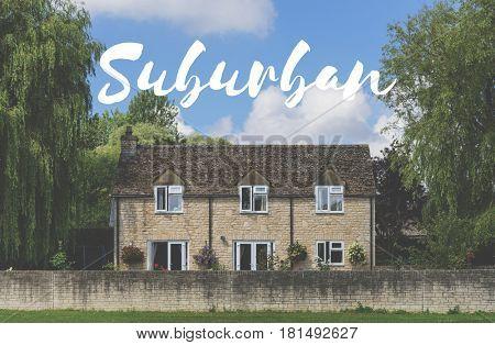 Suburban Home House Residential Neighborhood