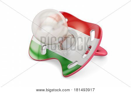 Hungarian Maternity and birthrate in Hungary concept 3D rendering