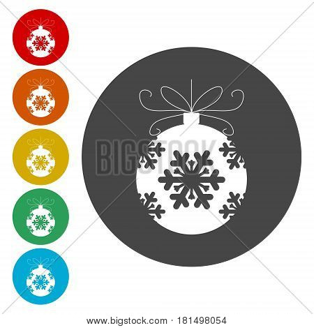 Christmas ball icon, simple vector icon on white background