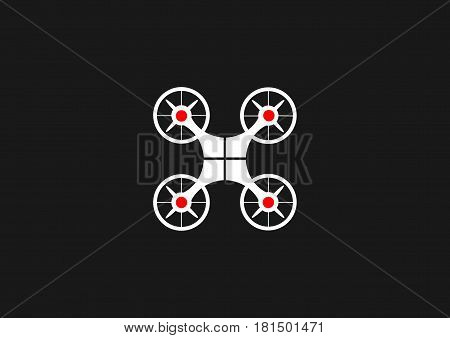 drone icon. Drone symbol. isolated Vector illustration