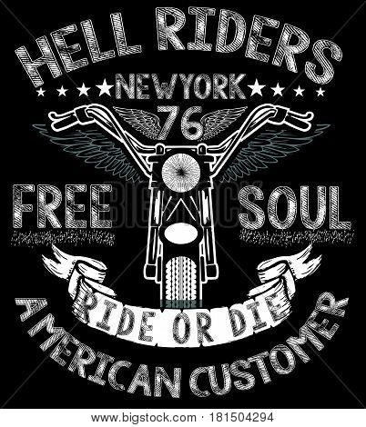 Motorcycle tee graphic design fashion style modern art