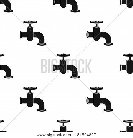 Tap icon in black style isolated on white background. Build and repair pattern vector illustration.