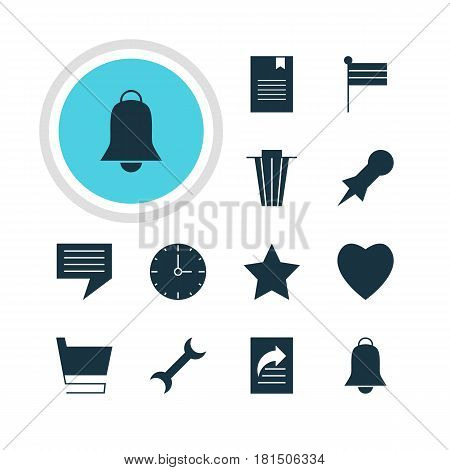 Vector Illustration Of 12 Online Icons. Editable Pack Of Document Transfer, Map Marker, Settings And Other Elements.