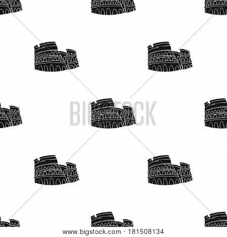 Colosseum in Italy icon in black style isolated on white background. Italy country pattern vector illustration.
