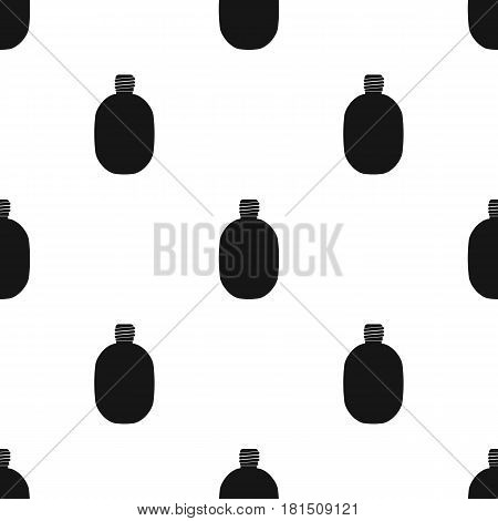 Army canteen icon in black style isolated on white background. Military and army pattern vector illustration