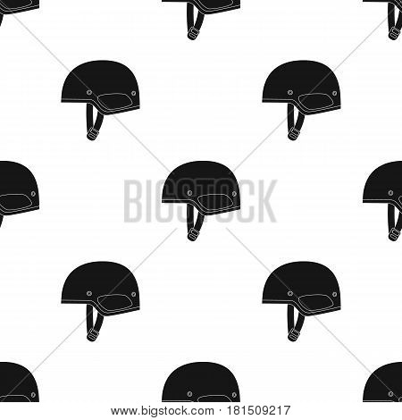 Army helmet icon in black style isolated on white background. Military and army pattern vector illustration