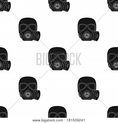 Army gas mask icon in black style isolated on white background. Military and army pattern vector illustration