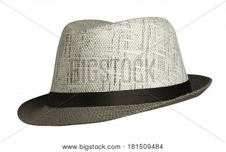 Beach Hat Isolated On White Background .beach Hat With Brim