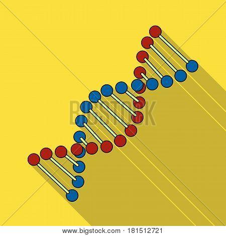 DNA chain.Medicine single icon in black style vector symbol stock illustration .