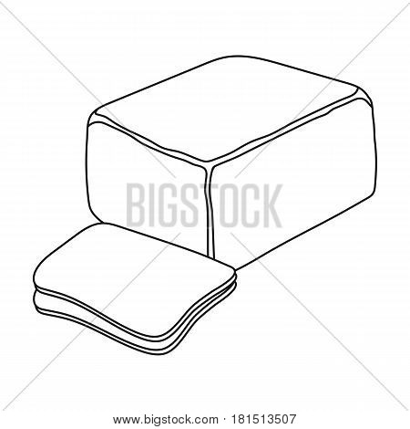 Cheddar.Different kinds of cheese single icon in black style vector symbol stock illustration .