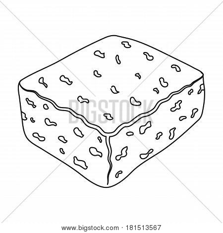 Cheese feta.Different kinds of cheese single icon in black style vector symbol stock illustration .