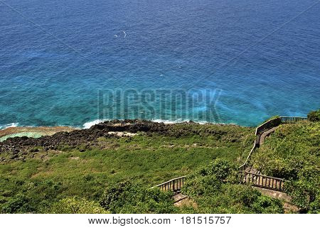Bird sanctuary, Rota, Northern Mariana Islands I'Chenchon park bird sanctuary is a conservation area with an overlook for visitors.