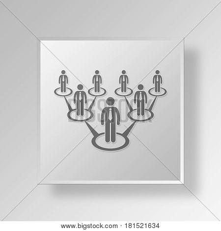 3D Symbol Gray Square Business Referrals icon Business Concept
