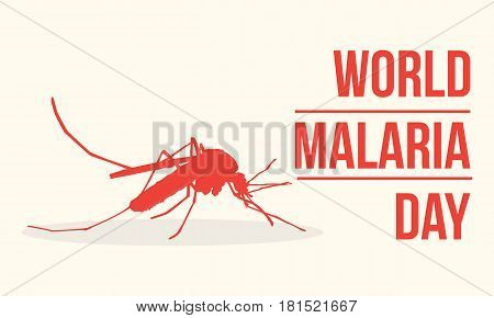 World Malaria Day Concept Illustration collection stock