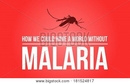 Red background for world malaria day vector illustration