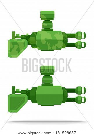 set 18 dual external flat airship big powerful weapon