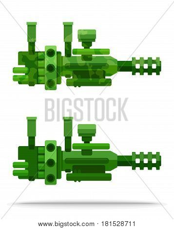 set 20 external flat airship big powerful heavy weapon