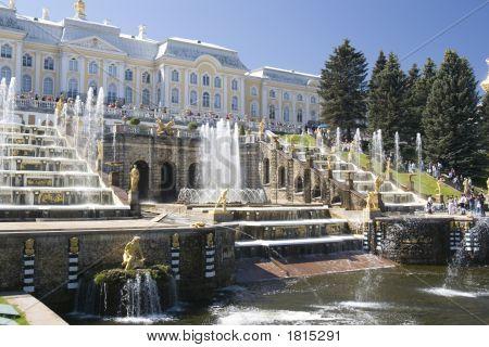 Fountain In Petrodvorets (peterhof), St Petersburg, Russia.